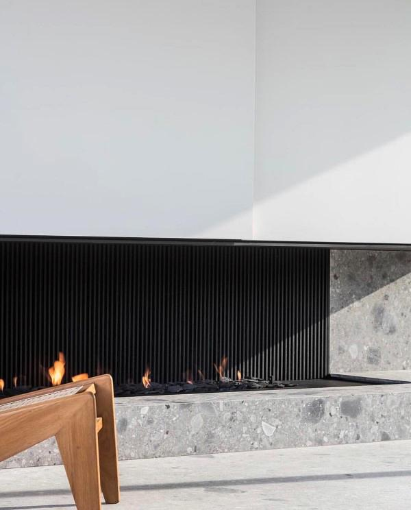 unique rectangular fireplace